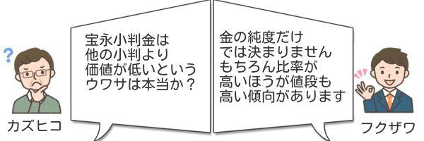 宝永小判金古銭換金いくら