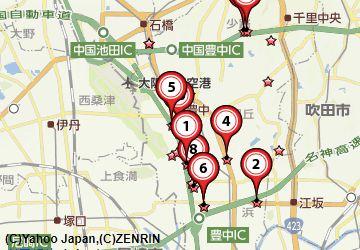 豊中市古銭買取地図