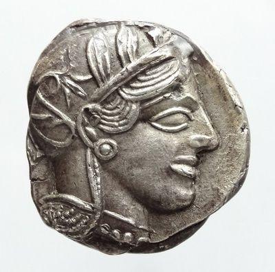 古代ギリシャ アッティカ(アテネ)ふくろう テトラドラクマ銀貨