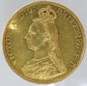 イギリス ヴィクトリア女王ジュビリーヘッド 5ポンド金貨