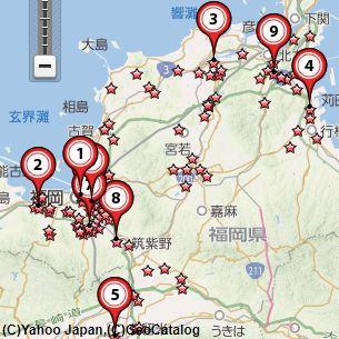 福岡古銭買取会社地図
