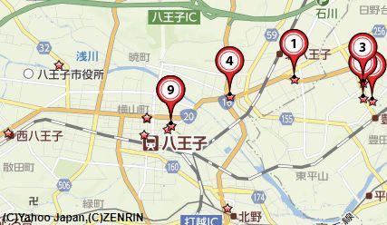 八王子古銭買取地図