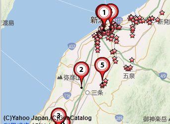新潟古銭買取会社地図
