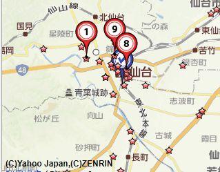 仙台古銭買取地図
